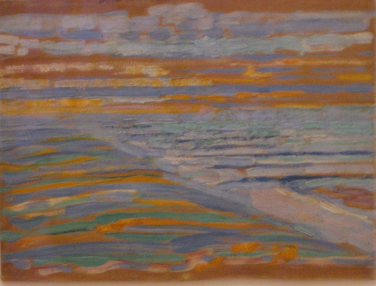 View from the Dunes with Beach and Piers | Piet Mondrian | oil painting