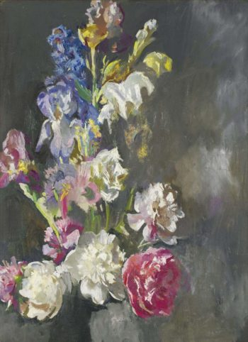 Still Life Study of Peonies and Iris 1930 | Edmund Charles Tarbell | oil painting