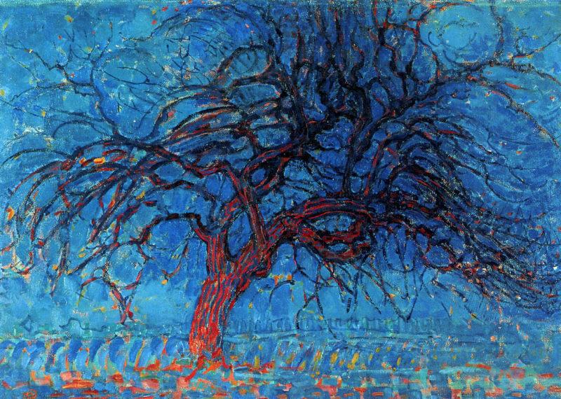 Avond (Evening): The Red Tree   Piet Mondrian   oil painting
