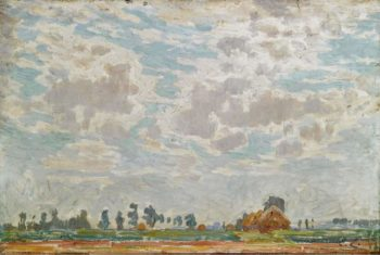 A Clouded Sky above a Belgian Farmhouse | Emile Claus | oil painting