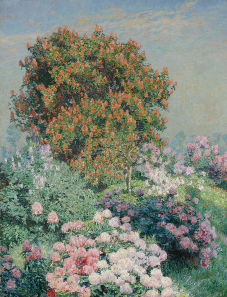 Flowegarden Villa Zonneschijn Astene | Emile Claus | oil painting