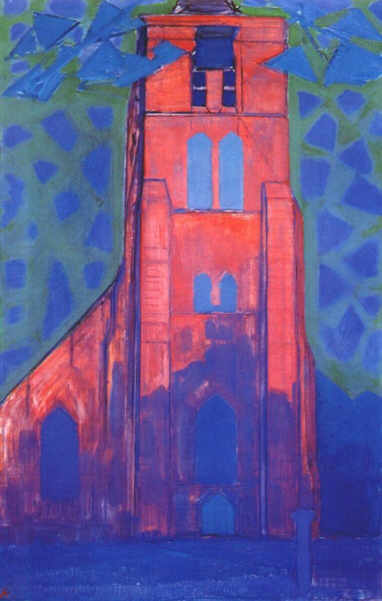Church tower at Domburg   Piet Mondrian   oil painting