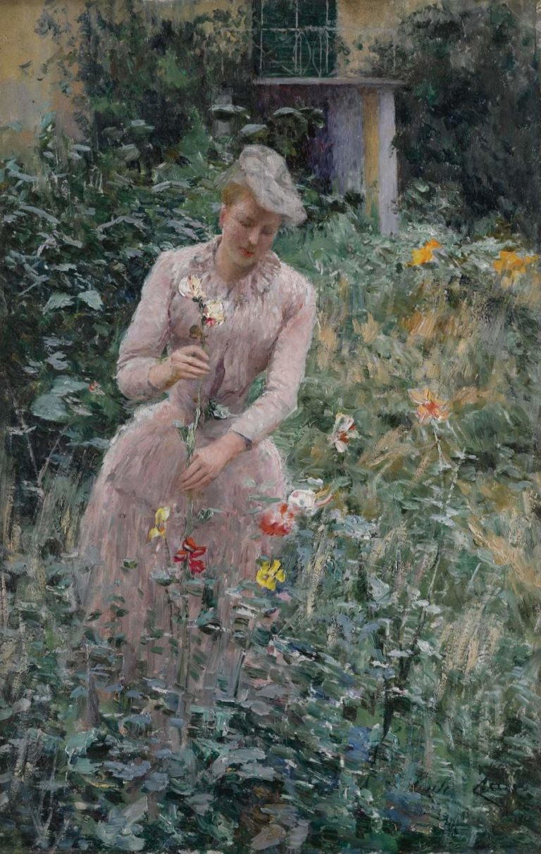 In the Garden | Emile Claus | oil painting