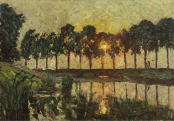 Trees by a Lake | Emile Claus | oil painting