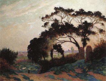 Bumpy Road near Guerande 1915 | Ferdinand du Puigaudeau | oil painting