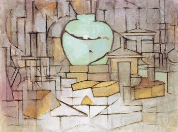 Still Life with Gingerpot 2 | Piet Mondrian | oil painting