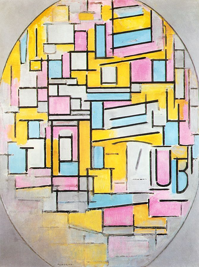 Composition with Oval in Color Planes II | Piet Mondrian | oil painting