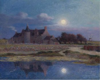 Kervaudu under the Clear Moon | Ferdinand du Puigaudeau | oil painting