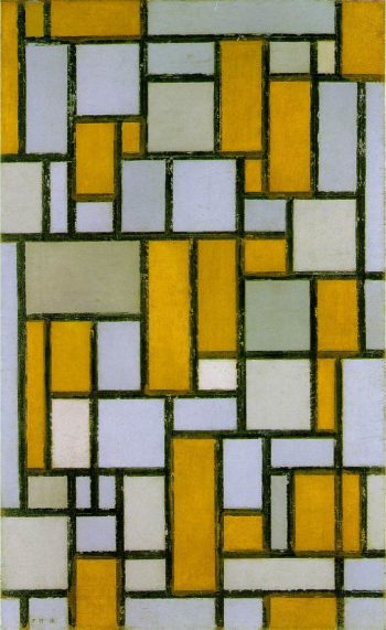 Composition with Gray and Light Brown | Piet Mondrian | oil painting