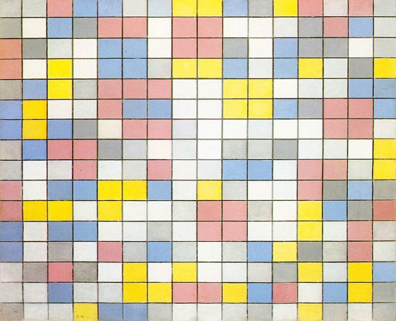 Composition with Grid IX   Piet Mondrian   oil painting
