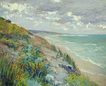 Cliffs by the sea | Gustave Caillebotte | oil painting