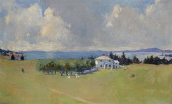 Wooster Farm (The Farm at North Haven) 1912 | Frank Weston Benson | oil painting