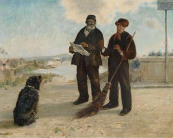 Asnier Newspaper 1879 | Jean Francois Raffaelli | oil painting