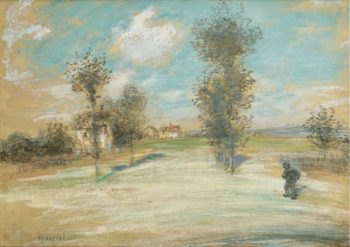 Landscape with a Peasant on the Road | Jean Francois Raffaelli | oil painting