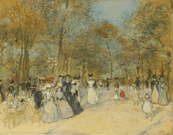 Les Champs Elysees | Jean Francois Raffaelli | oil painting