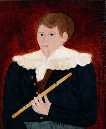 Boy With A Flute | Unknown Artist | oil painting