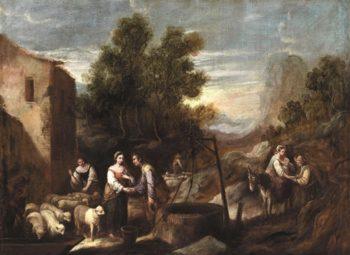 Jacob And Rachel   Garofalo   oil painting