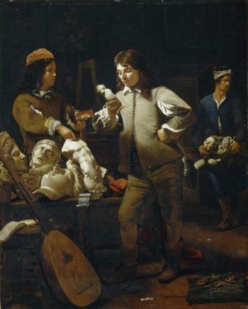 In The Studio | Juan de Flandes | oil painting