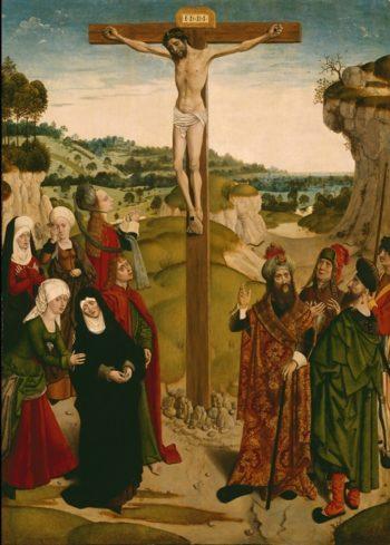 Crucifixion   Master of the Tiburtine Sibyl   oil painting