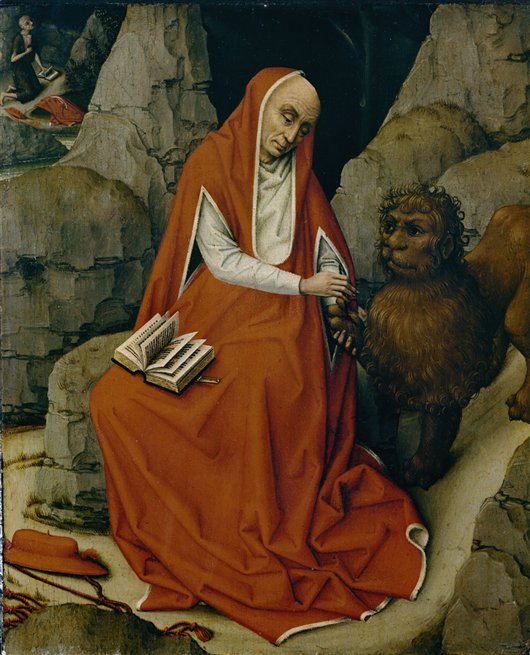 Saint Jerome In The Desert | Sassetta | oil painting