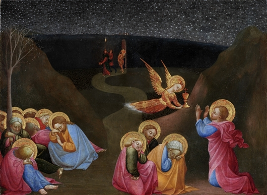 The Agony In The Garden | Sassetta | oil painting