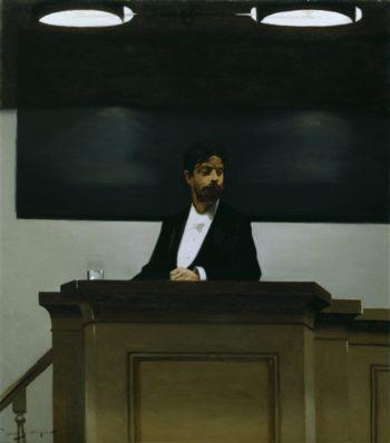 Georg Brandes At The University In Copenhagen | Adolph von Menzel | oil painting