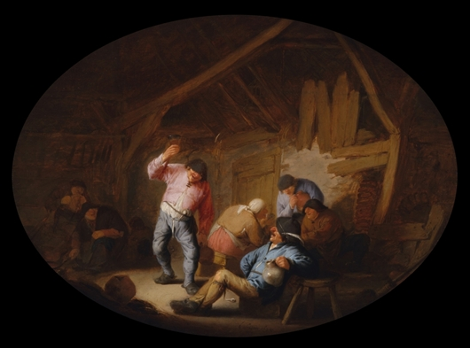 Carousing Peasants In A Rustic Interior | Adriaen van Ostade | oil painting