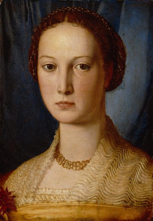 Costanza Da Sommaia   Agnolo Bronzino   oil painting