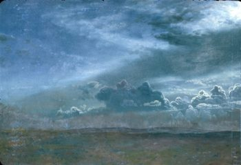 Landscape With Stormy Clouds   Albert Bierstadt   oil painting