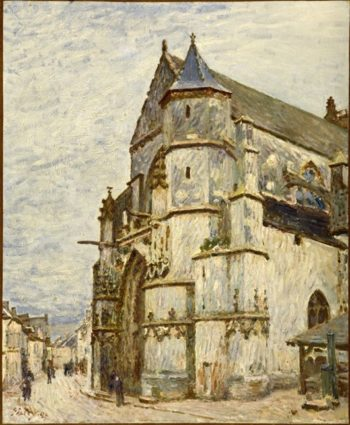 Church At Moret After The Rain | Alfred Sisley | oil painting