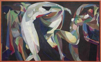 Dances   Arthur Bowen Davies   oil painting