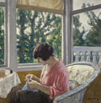 Young Woman Sewing 1913 | Albert Andre | oil painting