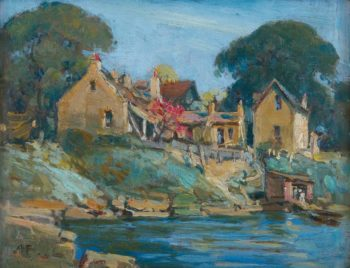 McMahon`s Point Sydney   Albert Henry Fullwood   oil painting
