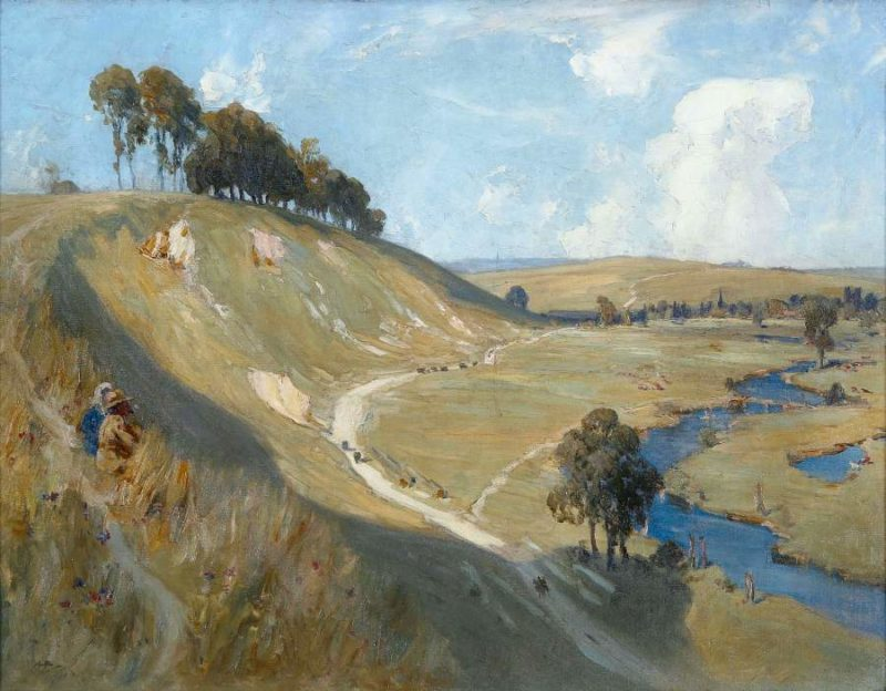 Valley of the Somme 1918   Albert Henry Fullwood   oil painting