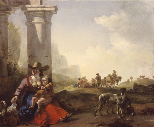Italian Peasants And Ruins | Bartholomeus Breenbergh | oil painting