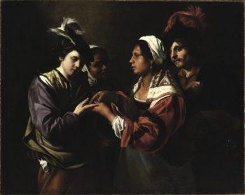 Fortune Teller | Bartolomeo Manfredi | oil painting