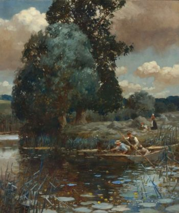 A Summer Afternoon 1902 | Alfred James Munnings | oil painting