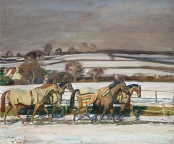 Exercising | Alfred James Munnings | oil painting