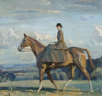 Portrait of Lady Barbara Lowther on Horseback | Alfred James Munnings | oil painting