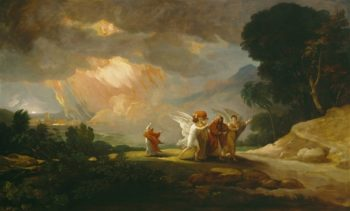 Lot Fleeing From Sodom | Benjamin West | oil painting