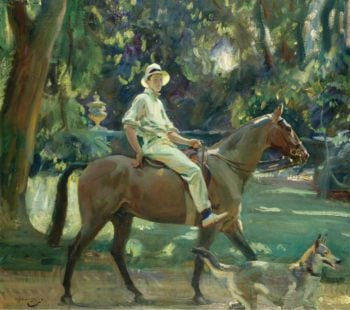 Return from the Nets Portrait of Stephen Edward Vivian Smith 1919 | Alfred James Munnings | oil painting
