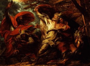 King Lear | Benjamin West | oil painting