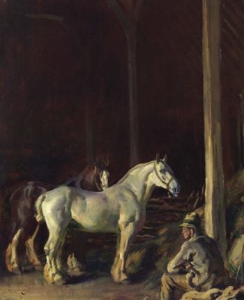 The Barn | Alfred James Munnings | oil painting