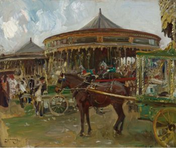 The Carousel 1913 | Alfred James Munnings | oil painting