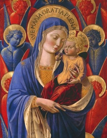 Virgin And Child With Angels | Benozzo Gozzoli | oil painting
