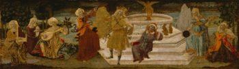 Apollo And The Muses | Benvenuto di Giovanni di Meo del Guasta | oil painting