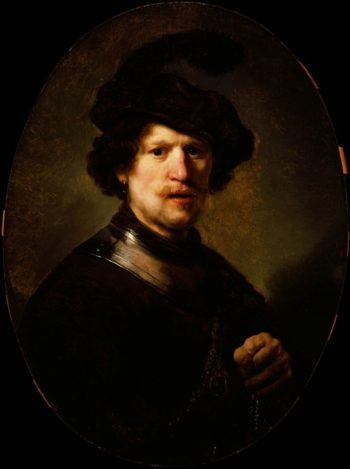 Man Wearing A Plumed Beret And Gorget | Carlo Dolci | oil painting