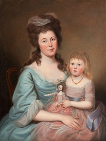 Peggy Sanderson Hughes And Her Daughter | Charles Willson Peale | oil painting