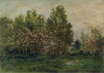 Apple Blossoms | Charles Francois Daubigny | oil painting