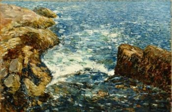 Surf And Rocks | Childe Hassam | oil painting